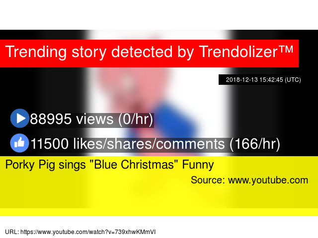 "Porky Pig sings ""Blue Christmas"" Funny - Stats"