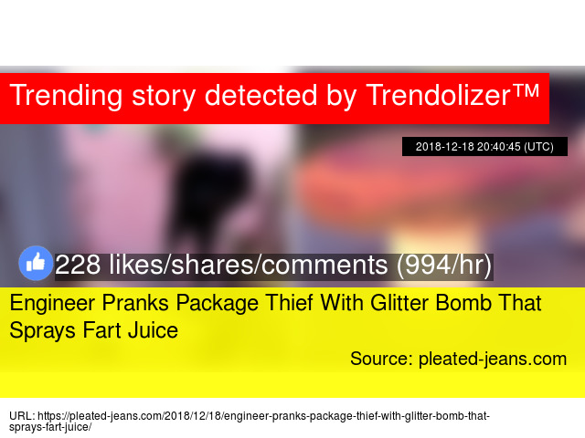 Engineer Pranks Package Thief With Glitter Bomb That Sprays