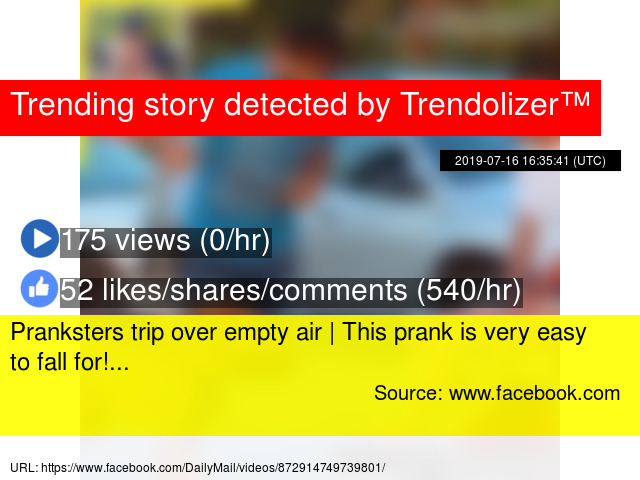 Pranksters trip over empty air | This prank is very easy to fall for!