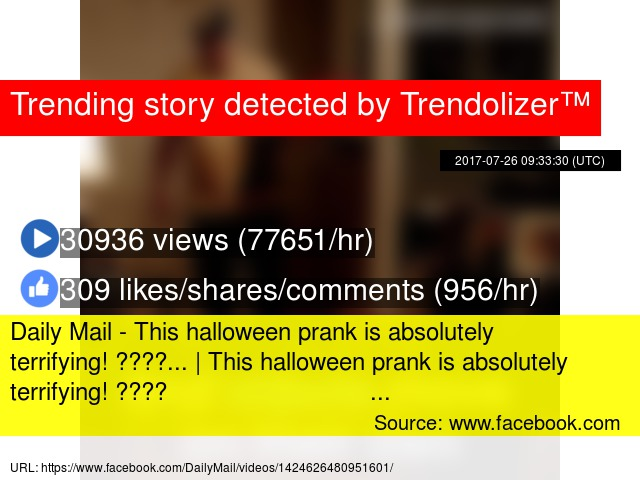 Daily Mail - This halloween prank is absolutely terrifying
